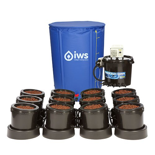 IWS Flood and Drain Remote System 12 POT inkl. Flextank 250l